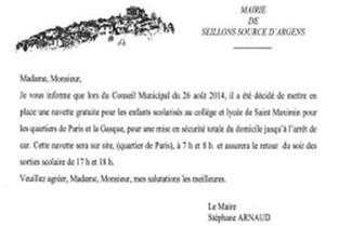 lettre maire mini